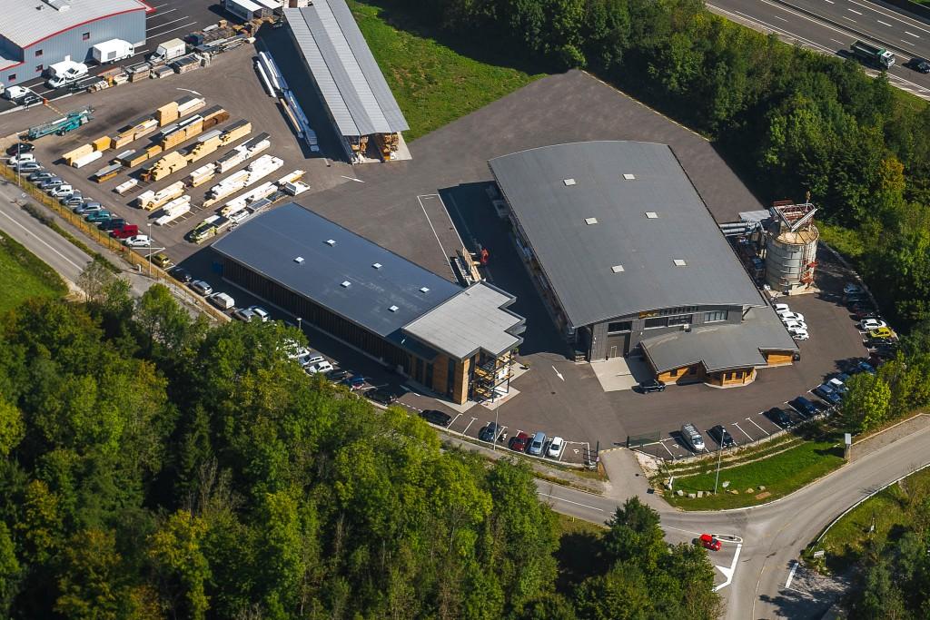 Vue aérienne du site LP CHARPENTE