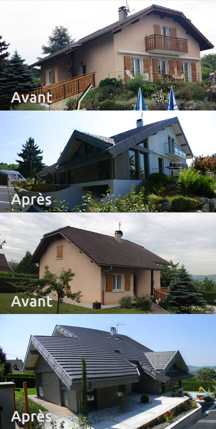 Extension maison annecy r novation b timent haute savoie 74 for Extension maison 74