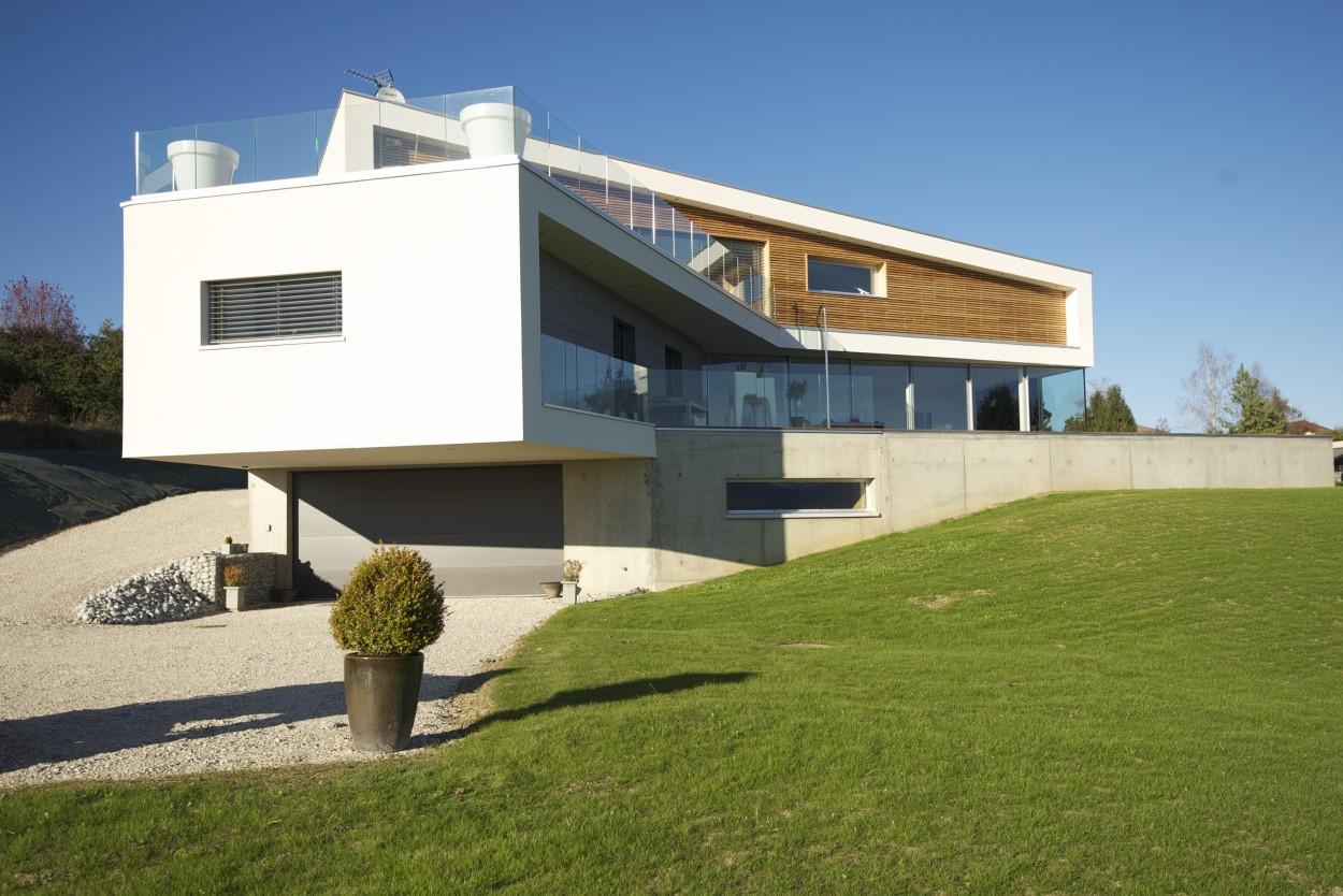Maison bois saint martin bellevue 74 lp charpente for Construction maison contemporaine haute savoie