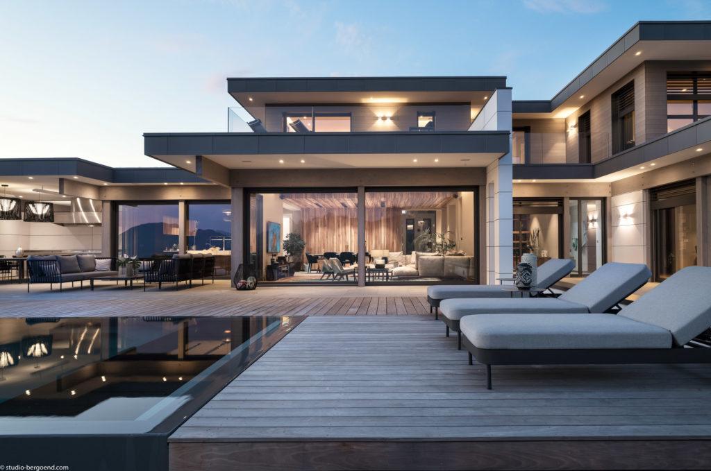 maison bois luxe haute gamme 74